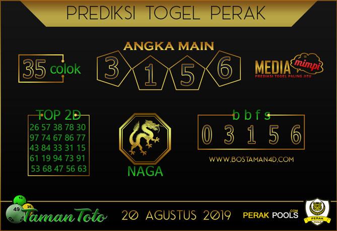 Prediksi Togel PERAK TAMAN TOTO 20 AGUSTUS 2019