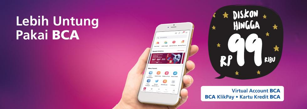 #BankBCA - Promo Diskon 90K & 99K Pakai #BCA di #Bukalapak (s.d 16 Jan 2019)