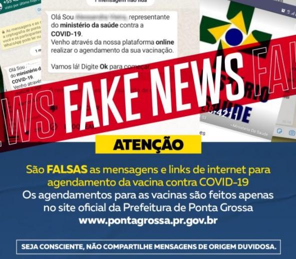 Golpe: Bandidagem fazem falso agendamento para vacinação da Covid-19 em Ponta Grossa