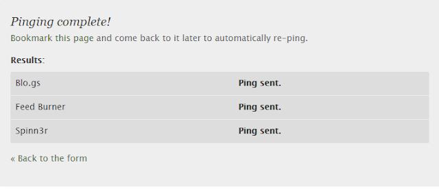 Begini Cara Ping Blog Di Pingomotic