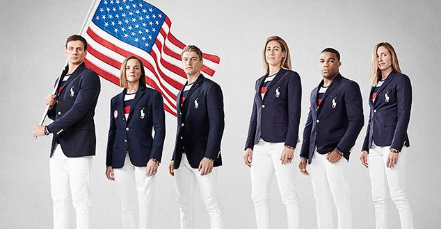 На свечаним оделима тима Поло репрезентације Америке, са фотографија које је њихов олмпијски комитет објавио, јасно се виде и руске заставе.