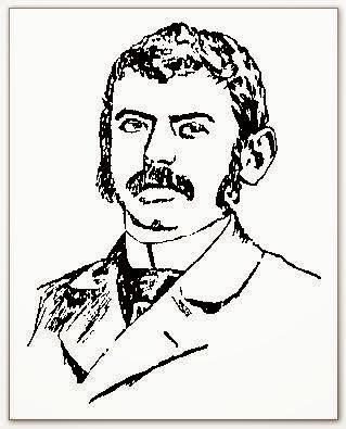 Dibujo de Adolf Albin de frente