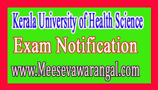 Kerala University of Health Science Research Co-ordinator Assistant on Temporary 2016 Notification