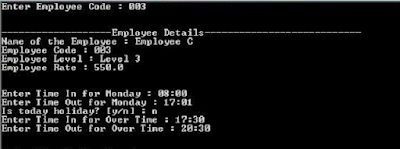 Payroll management system project C++ source code ouput