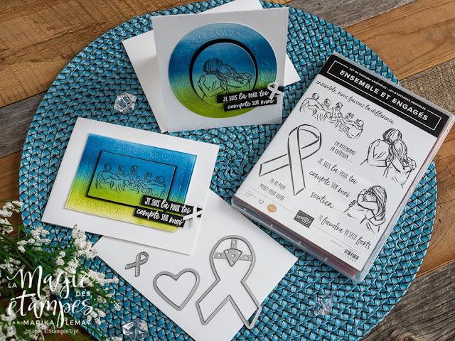 Cartes Stampin' Up! pour les gens malades faites avec le jeu d'étampes Ensemble et engagés
