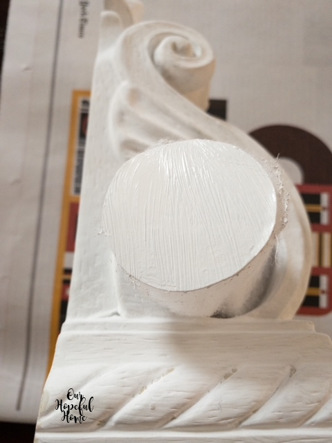 detailed drapery sconce white cardboard round