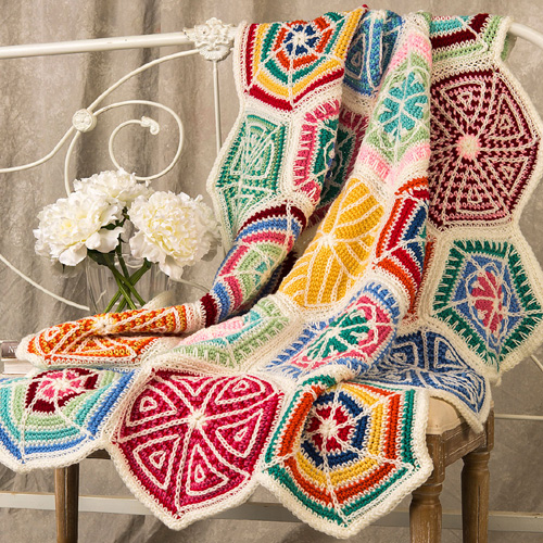 Mandala Sampler Throw - Free Pattern