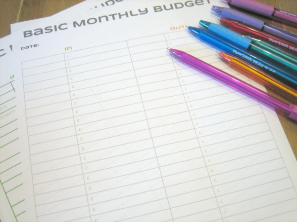 Basic Budget Planner Free Printable - our handmade home