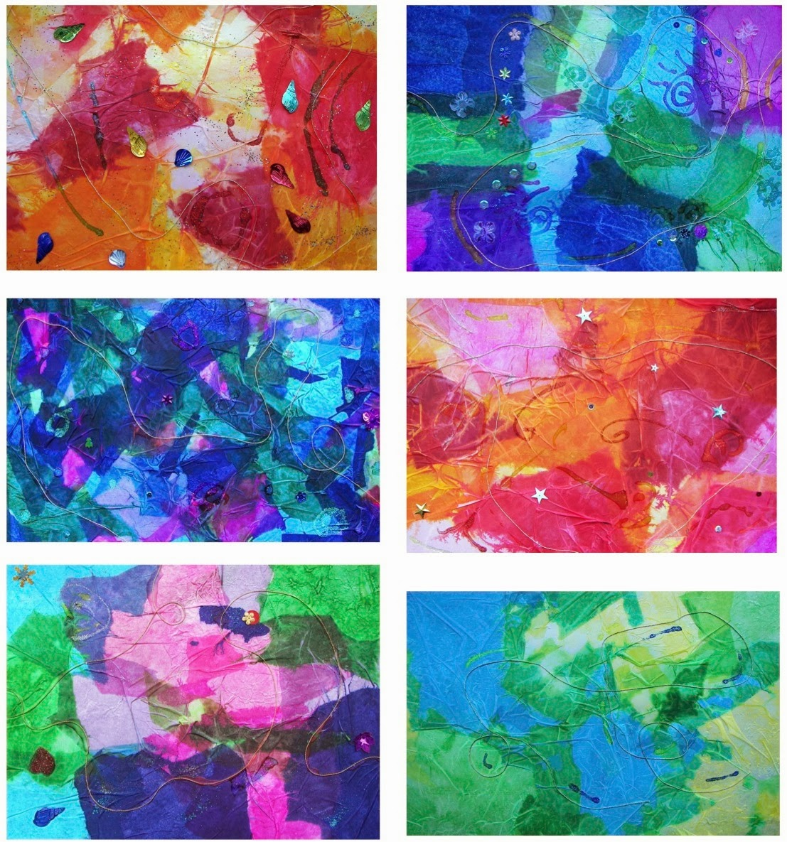 Tissue Paper Designs The Rolling Artroom Abstract Tissue Paper Designs 4 6 Grade
