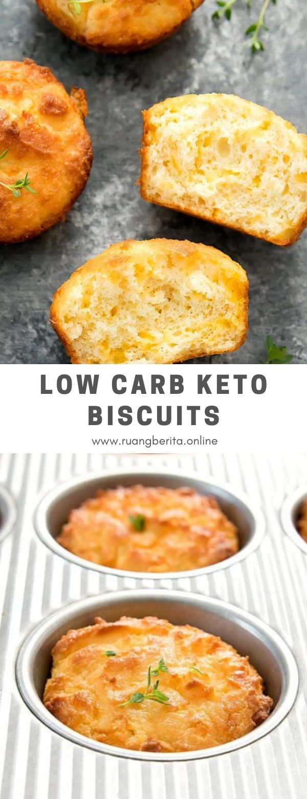 Low Carb Keto Biscuits #breakfast #lowcarb #keto #biscuits