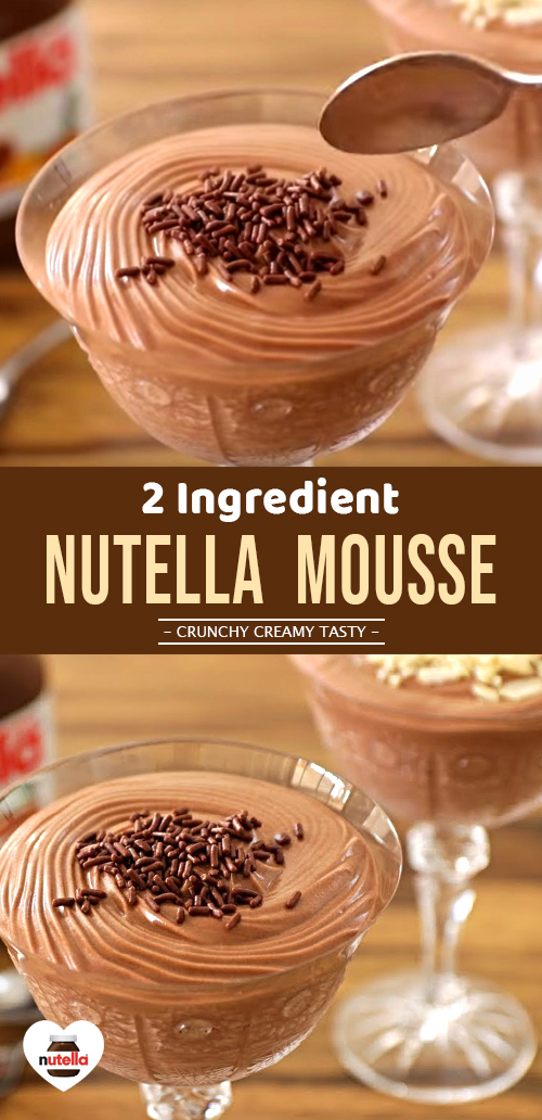 2 Ingredients NUTELLA MOUSSE for Nutella lovers