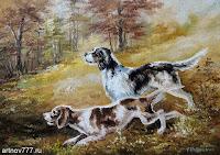 Собаки на охоте, картина