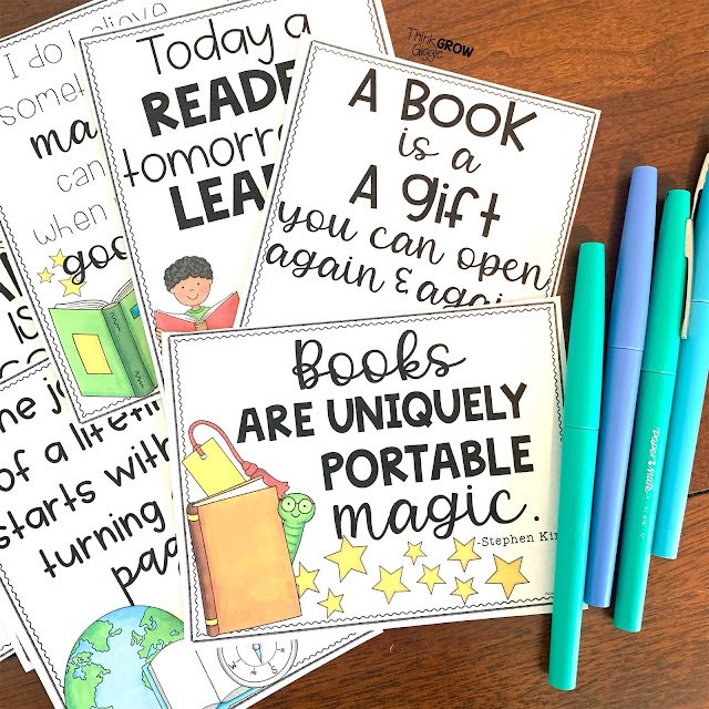 motivate students to read with note cards