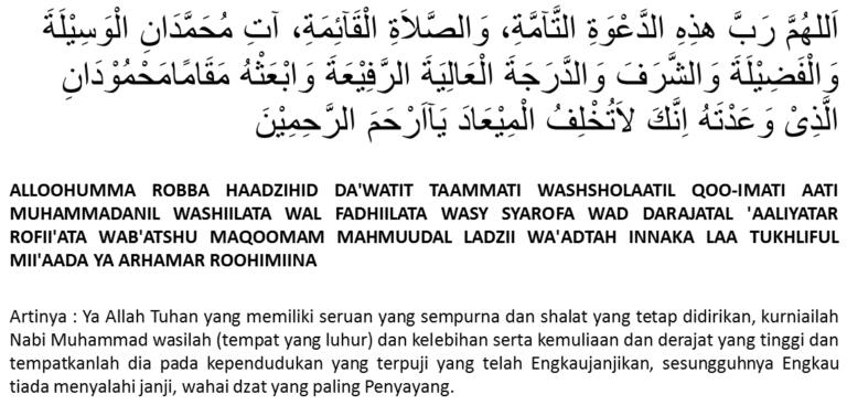 Doa Sesudah Adzan Tulisan Arab Dan Latin Sesuai Sunnah Doa Sesudah