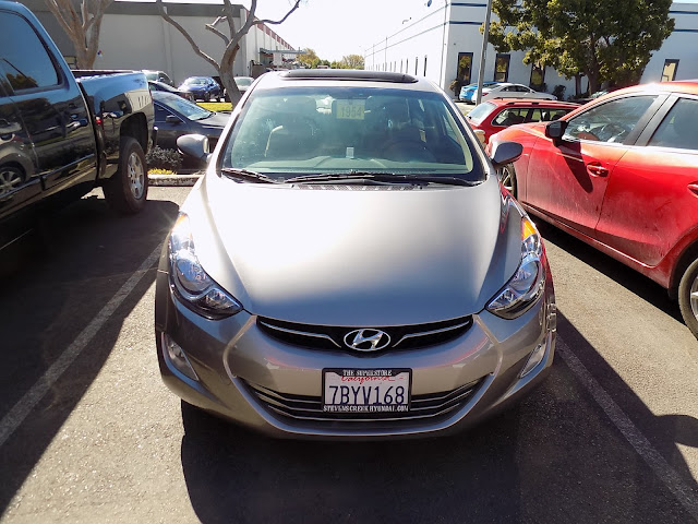 Hyundai Elantra after collision repairs at Almost Everything Auto Body.