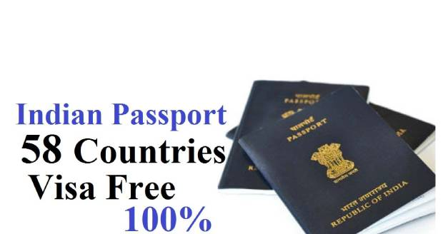 Indian Passport 58 Countries Free Visa