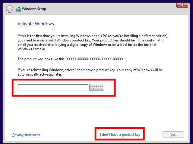 Windows producy key