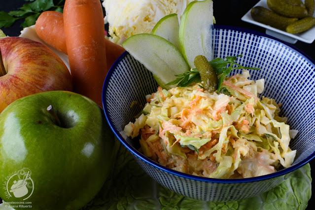 Ensalada de col o repollo, coleslaw