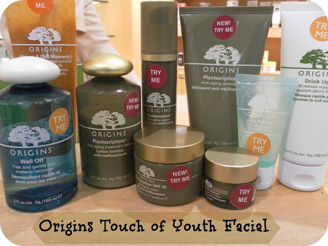 A picture of an Origins facial