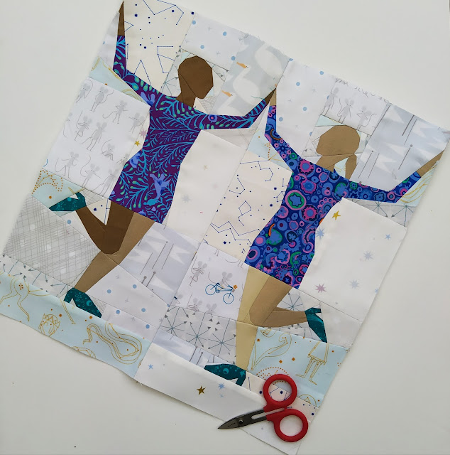 dancing girls quilt block quilt pattern