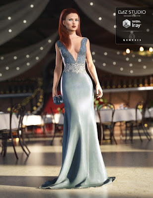Vogue Evening Gown for Genesis 3 Female(s)