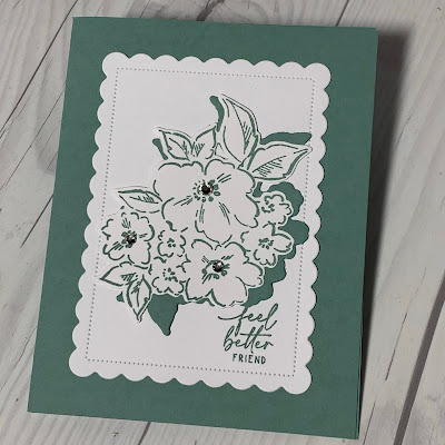 Floral handmade greeting card using Stampin' Up1 Hand-Penned Petals stamp set and Soft Succulent cardstock
