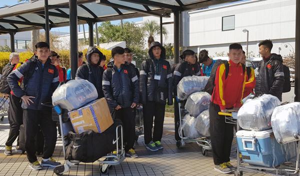Tuyển U16 Việt Nam đã có mặt tại Miyazaki - Nhật Bản