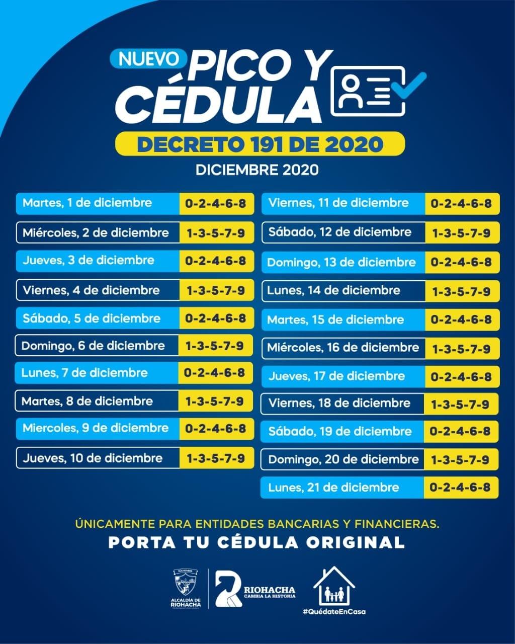 hoyennoticia.com, Pico y Cédula hasta el 21 de diciembre en Riohacha