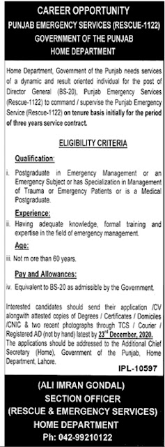 rescue-1122-jobs-2020-punjab-advertisement-for-director-general
