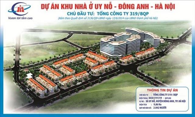 Dự án Khu nhà ở liền kề 319 Bộ Quốc Phòng Cổ Loa Uy Nỗ Đông Anh