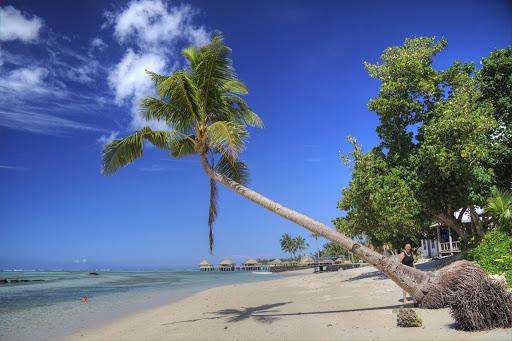 Playa de Samoa, país sin coronavirus