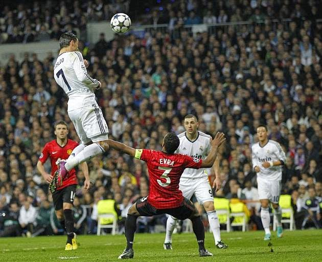 CR7 shot, according a study, to a height of 2.63 metres. A higher height than the average of NBA.