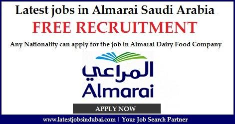 Latest jobs in Almarai Saudi Arabia 2016