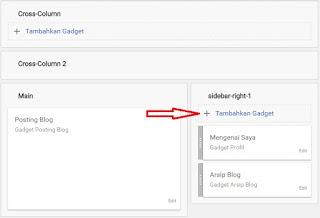 Cara menambahkan gadget baru pada blog