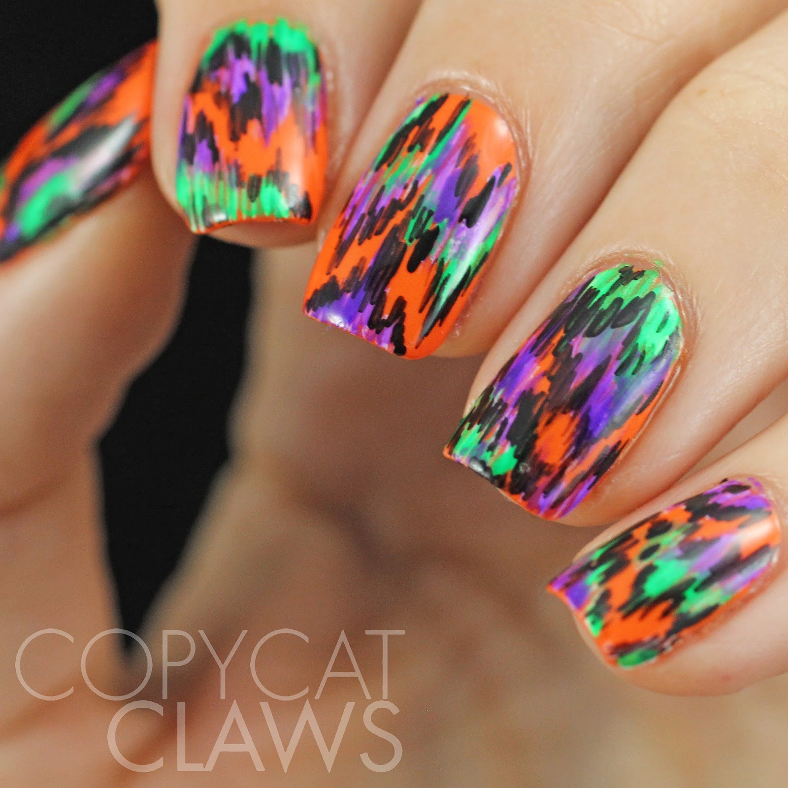 Copycat Claws: 40 Great Nail Art Ideas - Orange, Purple ...