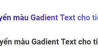 Hiệu ứng chuyển màu Gadient Text cho tiêu đề Blogspot