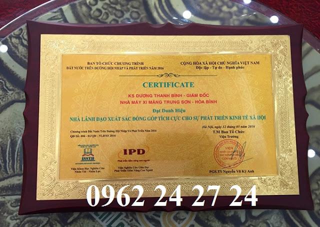 cơ sở bán biểu trưng gỗ đồng, địa chỉ sản xuất bằng khen nhân viên, bằng chứng nhận cao cấp - 260096