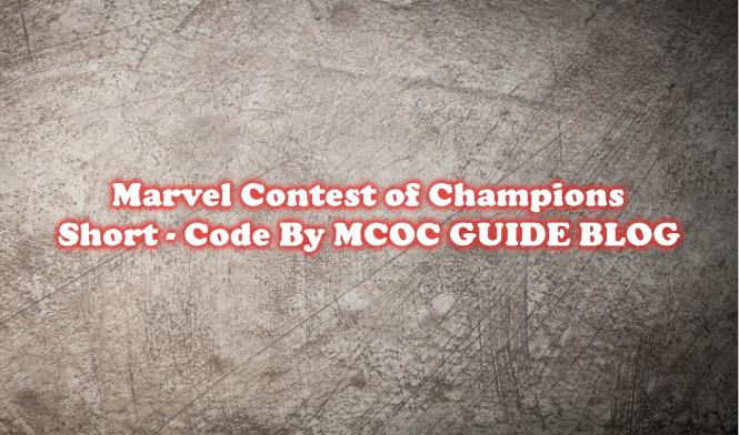 MCOC Abbreviations - Slang (short-code)