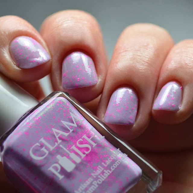 lavender crelly nail polish swatch