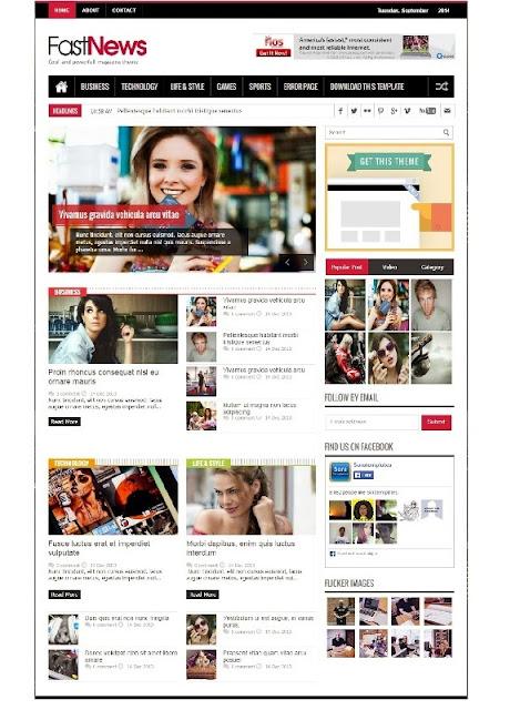FastNews - Responsive SEO Magazine News Blogger Template