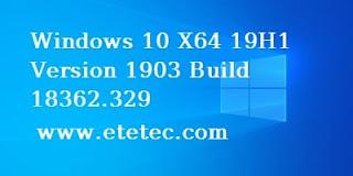 تحميل ويندوز 10 اخر اصدار Windows 10 19H1