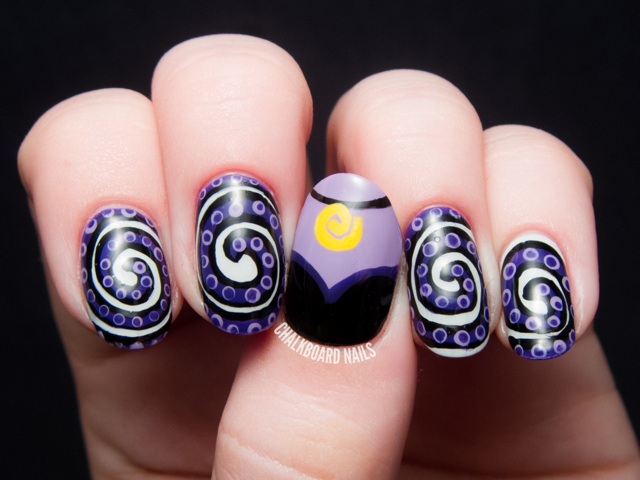Disney Nail Art Ursula