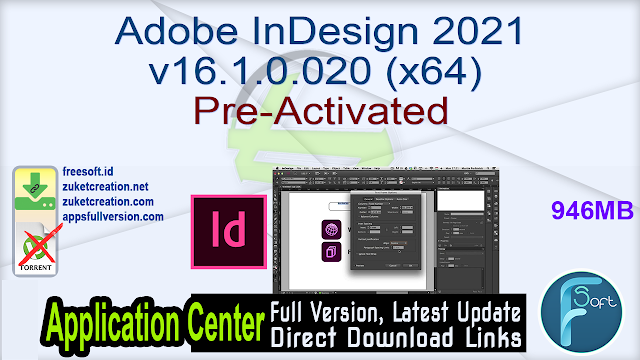 Adobe InDesign 2021 v16.1.0.020 (x64) Pre-Activated