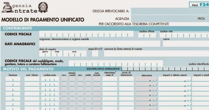 Modello F24 Versamenti Con Elementi Editabile Scheda Per