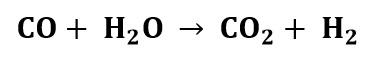 Reacción del ejercicio 5 de balance de energía con reacción química