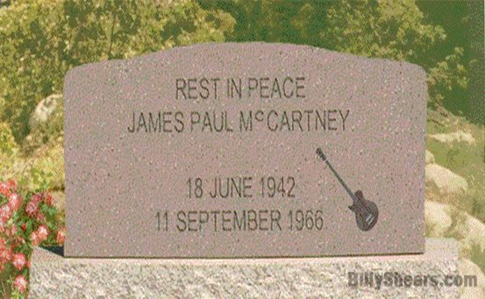 (BEATLE) - JAMES PAUL McCARTNEY - 18 JUNE 1942 - 11 SEPTEMBER 1966