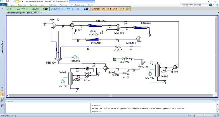 Hysys es una joya para resolver problemas de ingeniería química