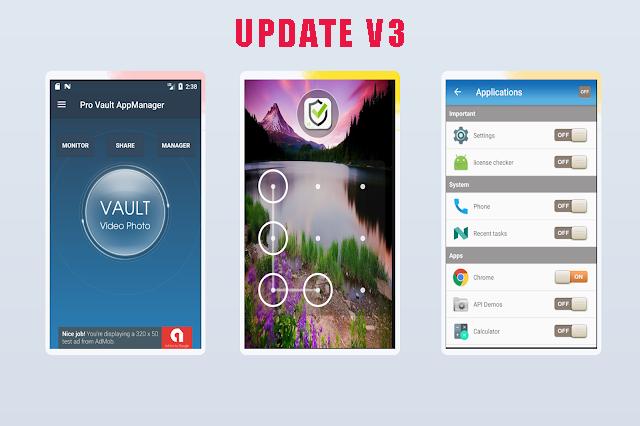 Pro Vault Photo Video + AppLock + Theme + AppManager + Monitor - 2