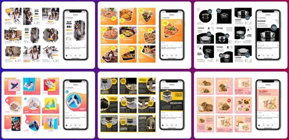 Template Instagram Keren Untuk Postingan Feed Story Puzzle