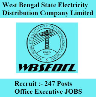 West Bengal State Electricity Distribution Company Limited, WBSEDCL, WB, West Bengal, Office Executive, Graduation, freejobalert, Sarkari Naukri, Latest Jobs, wbsedcl logo